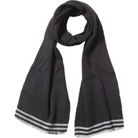 Kangaroo Poo Mens Knitted Striped Edge Scarf Black