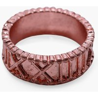 Numeral Engraved Ring - copper