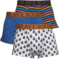 Brave Soul Mens Three Pack Boxers Black/Grey/Black