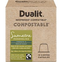 Dualit Compostable Sumatra Mandheling Coffee Capsules, Pack of 10