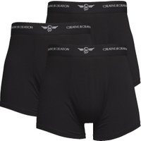 Creative Recreation Mens Three Pack Boxers Black/Black/Black