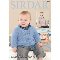Sirdar Snuggly Baby Bamboo DK Sweaters Pattern 4784