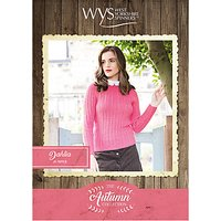 West Yorkshire Spinners Bluefaced Leicester Women's Dahlia Jumper Knitting Pattern