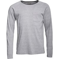 Onfire Mens Long Sleeve Ribbed Grandad Neck Top Grey Marl