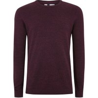 Mens Red Burgundy And Black Twist Jumper, Red