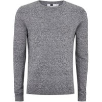 Mens Grey. Grey Black And White Twist Jumper, Grey.