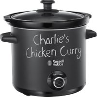 RUSSELL HOBBS Chalk Board 24180 Slow Cooker - Black, Black