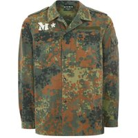 Mens Multi TOPMAN FINDS M*S*H*D Lizard Camouflage Print Shacket, Multi