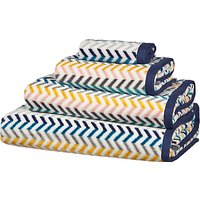 John Lewis & Partners Scandi Chevron Towels, Multi