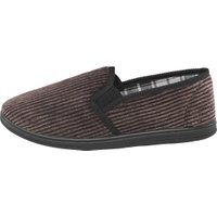 Mad Wax Mens Cord Slippers Dark Charcoal