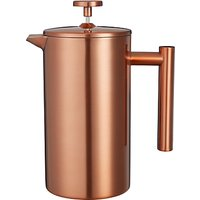 Croft Collection Double Wall Cafetiere, 8 Cup, Copper, 1L