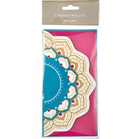 John Lewis Tales of the Maharaja Christmas Money Wallet, Pack of 2, W10 x L19.5cm, Multi