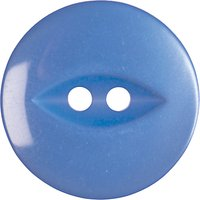 Groves Fish Eye Button, 13mm, Pack of 7, Blue