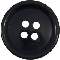 Groves Rimmed Button, 19mm, Pack of 5, Navy Blue