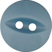 Groves Fish Eye Button, 13mm, Pack of 8, Blue