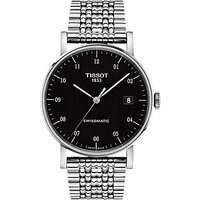 Tissot T1094071105200 Men's Everytime Date Bracelet Strap Watch, Silver/Black
