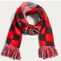 UO Unified Red Checkerboard Scarf, red