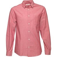 Onfire Mens Long Sleeve Oxford Shirt Red