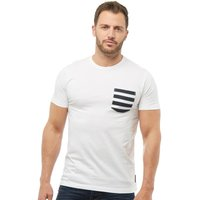 French Connection Mens 4 Stripe Pocket T-Shirt White