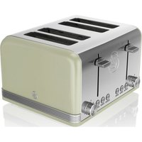 SWAN Retro ST19020GN 4-Slice Toaster - Green, Green