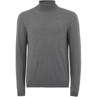 Mens Dark Grey Roll Neck Jumper, Grey