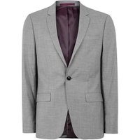 Mens Mid Grey Grey Marl Skinny Fit Suit Jacket, Mid Grey