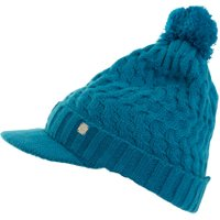 Green Lamb Holly Cable Peaked Hat, Blue