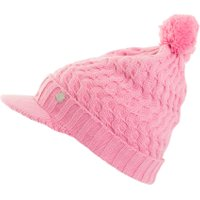 Green Lamb Holly Cable Peaked Hat, Pink