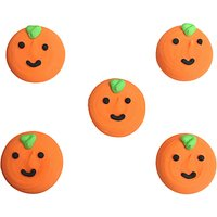 Creative Party Sugarcraft Halloween Pumpkin Cake Toppers, Pack of 5