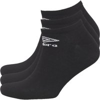 Umbro Mens Three Pack No Show Socks Black