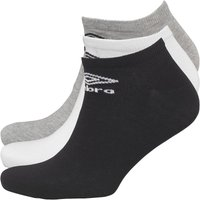 Umbro Mens Three Pack No Show Socks Mix