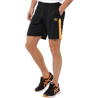 Umbro Mens Training Poly Shorts Black/Orange Pop/White
