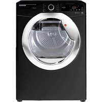 Hoover DXC8TCEB Freestanding Condenser Tumble Dryer, 8kg Load, B Energy Rating, Black