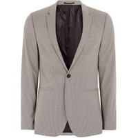 Mens Light Brown Check Ultra Skinny Fit Suit Jacket, Brown