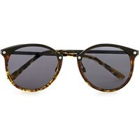 Mens Brown Round Sunglasses, Brown