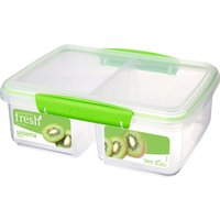 SISTEMA Split Rectangular 2 litre Container - Green, Green