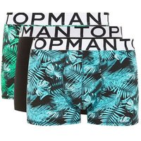 Mens Multi Navy And Green Jungle Trunks 3 Pack*, Multi