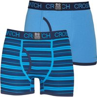Crosshatch Mens Deckster Two Pack Boxers Malibu Blue/Dress Blue