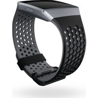 FITBIT Ionic Sport Band - Black & Grey, Small, Black