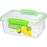 SISTEMA Fresh Rectangular 1 litre Container - Green, Green