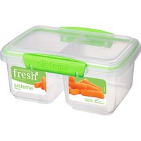 SISTEMA Split Rectangular 1 litre Container - Green, Green