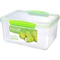 SISTEMA Fresh Rectangular 3 litre Container - Green, Green