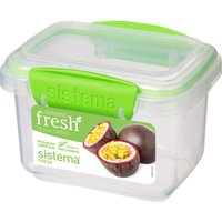 SISTEMA Fresh Rectangular 0.4 litre Container - Green, Green
