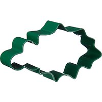 John Lewis Christmas Holly Shaped Stainless Steel Cookie Cutter, Green
