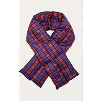 The New County Plaid Puffer Scarf, red