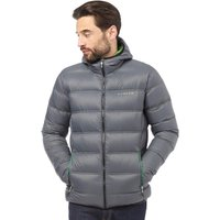 Dare2b Mens Downtime Hooded Padded Down Jacket Ebony Grey