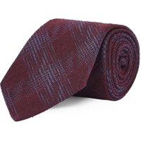 Chester Barrie Fine Check Tie, Red