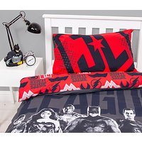 DC Comics Justice League Reversible Duvet Cover and Pillowcase Set, Single