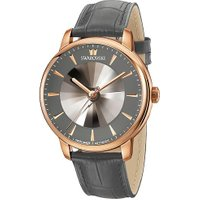 Swarovski Atlantis Limited Edition Automatic Men's Watch, Leather strap, Gray, Rose gold tone Gray R