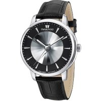 Atlantis Limited Edition Automatic Men's Watch, Leather strap, Black, Silver tone